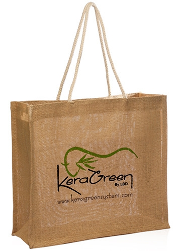 Jute Tote Bag with Rope Handle - 16 W x 14 H