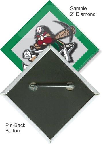 Pin-back 2 Inch Diamond Button