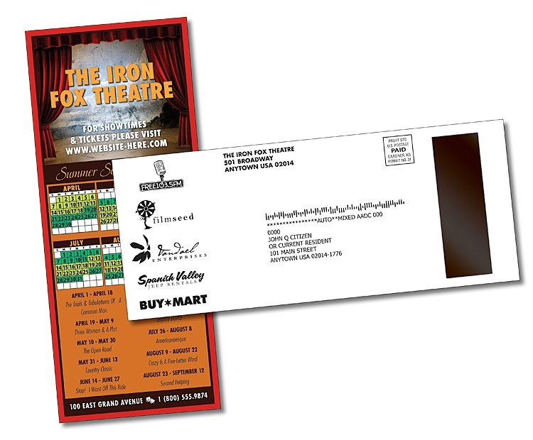UV-Coated (1S) Card/Postcard with Magnet Strip - 5.5 x 10.75 - 10 pt.