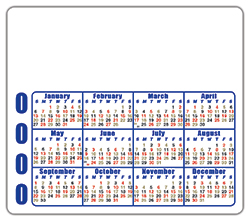 3.5x4 Round Corner Magnet Landscape Rotating Dates (Style 4b)