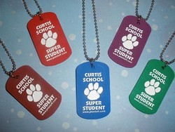 Debossed Silicone Dog Tags