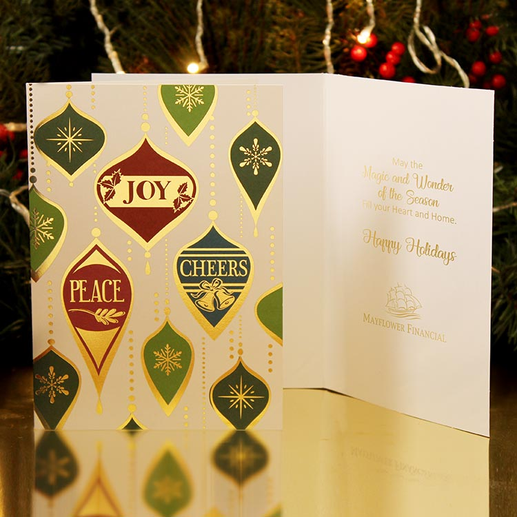 Christmas card with business logo