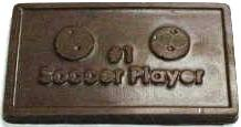 #1 SOCCER PLAYER CHOCOLATE BUSINESS CARD