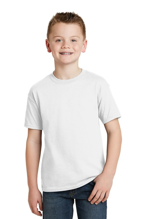 Hanes - Youth EcoSmart 50/50 Cotton/Poly T-Shirt.