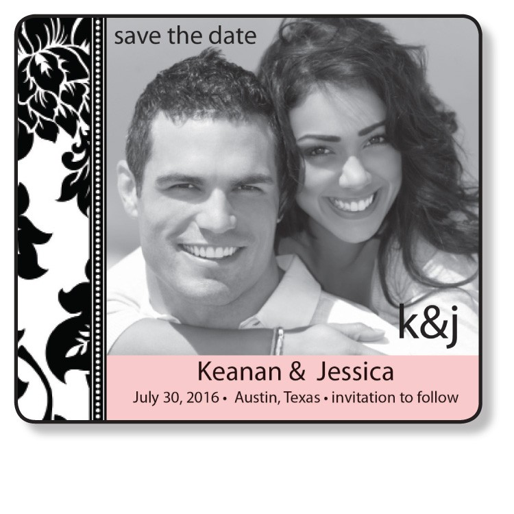 3.5x4 Wedding Magnet with FREE Printed Envelopes - FI #91