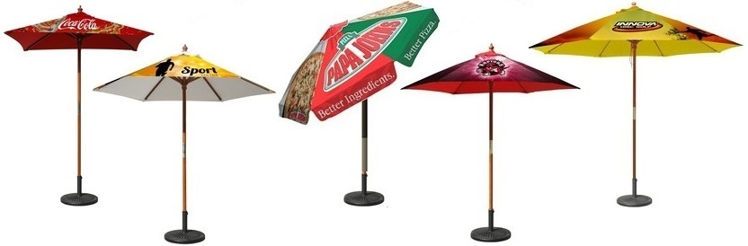 custom patio umbrellas logo printed promotional umbrellas