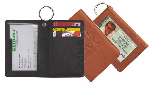 Leather ID Wallet - w/ Outside Window