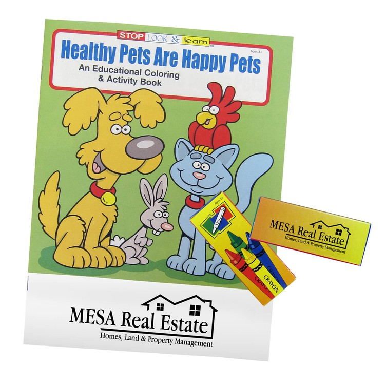 Healthy Pets Are Happpy Coloring Book Fun Pack