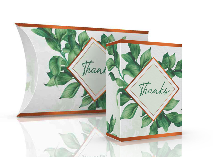 Natural design thank you gift kit box packaging