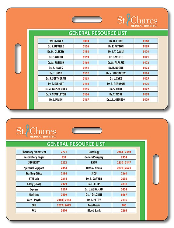 Laminated Double-Punch I.D./Wallet Card - 3.375x2.125 - 14 pt.