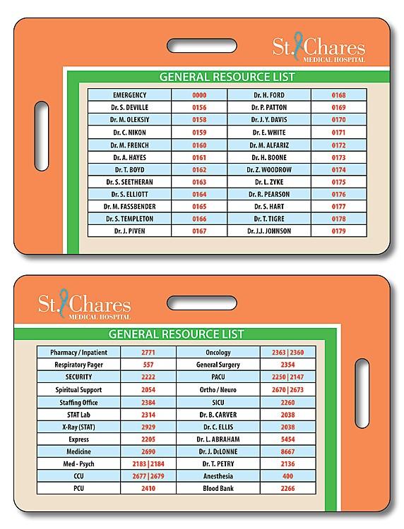 Plastic Double-Punch I.D./Wallet Card - 3.375x2.125 - 14 pt.