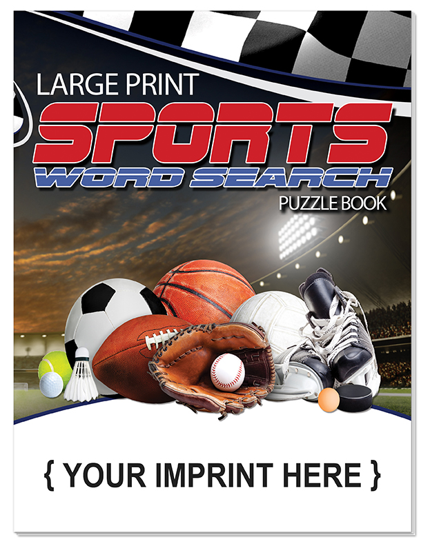 PUZZLE BOOK - Sports Large Print Word Search Book