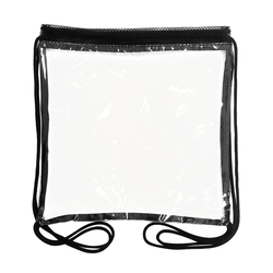 The 12 x 12 Drawstring Clear Backpack - Drawstring Clear Backpack