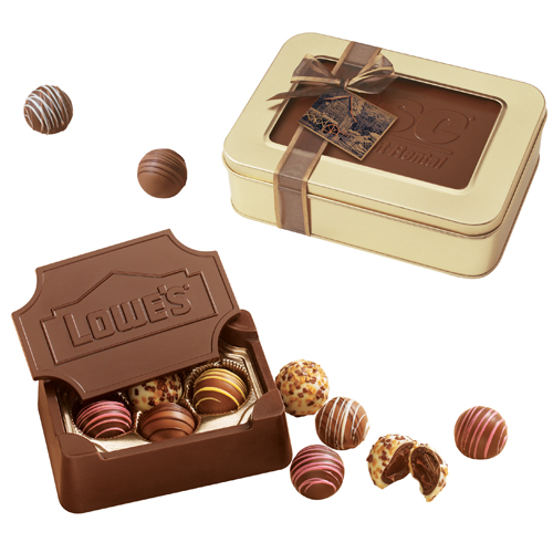 10 Oz Small Custom Chocolate Edible Box With Filled Truffles