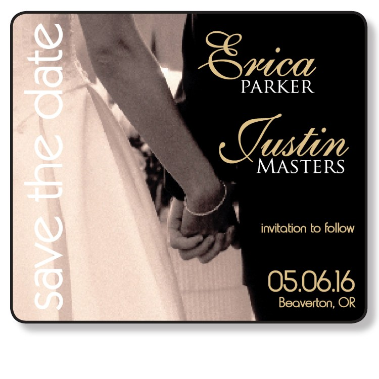 3.5x4 Wedding Magnet with FREE Printed Envelopes - formally FI-0027
