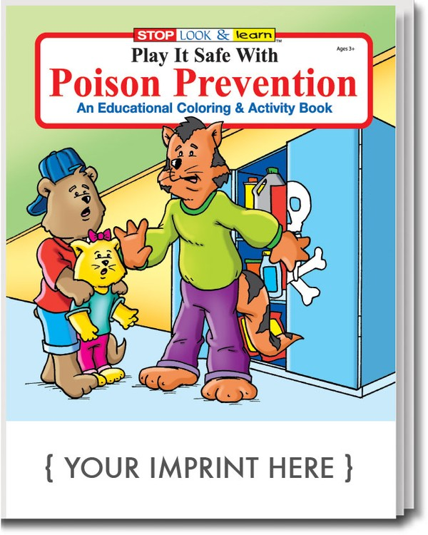 COLORING BOOK - Play It Safe With Poison Prevention Coloring & Activity Book