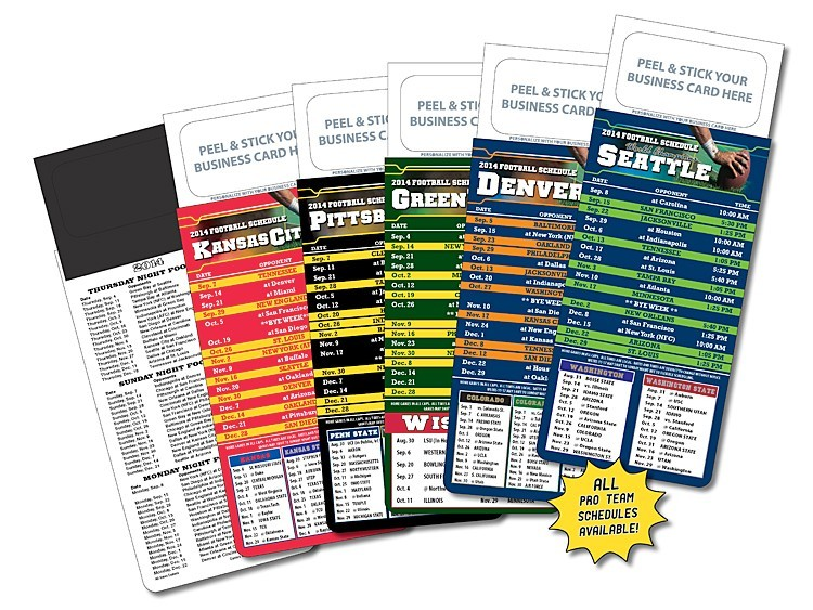 M.B.C. Sport Schedules - Pro Football (3.5x9) - Graphic Specialties Inc
