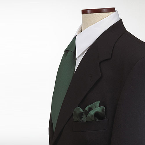 Hunter Green Polyester Pocket Square