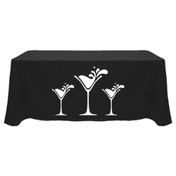 1 Color Economy 6' Throw Table Cover - Standard Poly Fabric