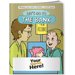 Bank, Let's Go to the Bank - Coloring Book