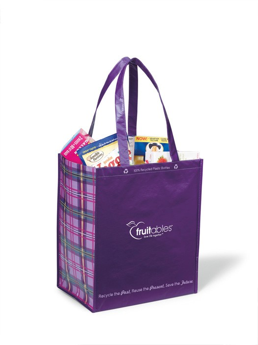 Laminated 100% Recycled Shopper - Purple