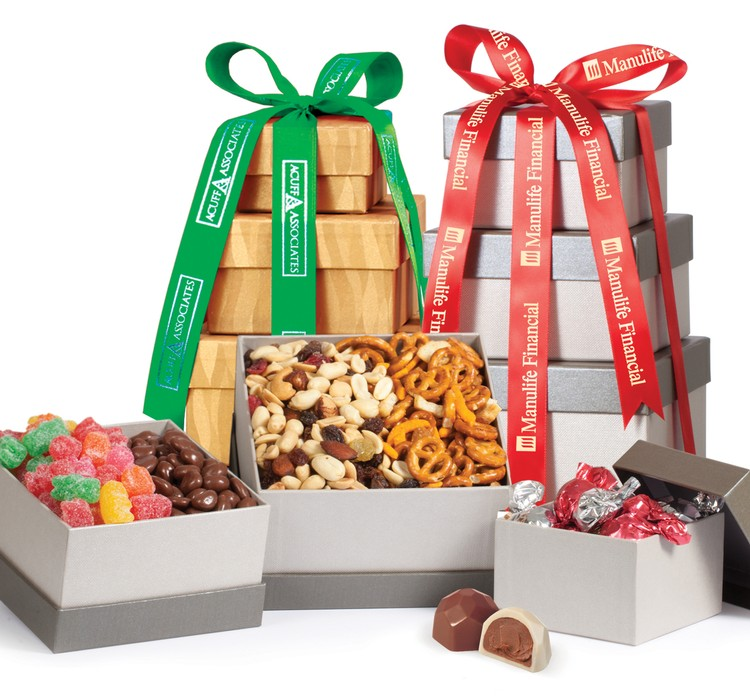 Food Gift Tower - Terrific Trio