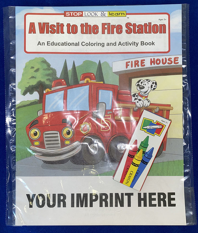 COLORING SET - A Visit to the Fire Station Coloring Book Fun Pack