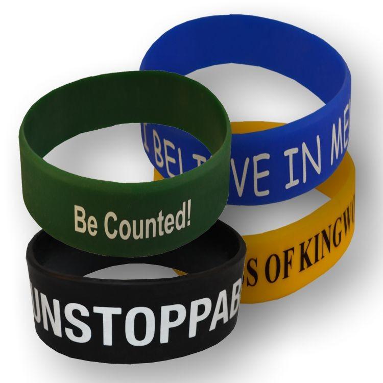 1 Printed Silicone Wristband - RUSH
