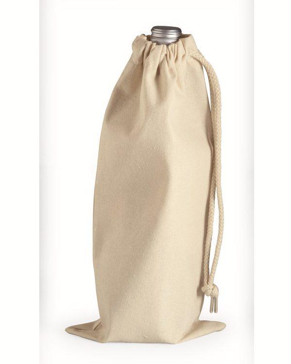 10 Ounce Cotton Canvas Drawstring Wine Bag
