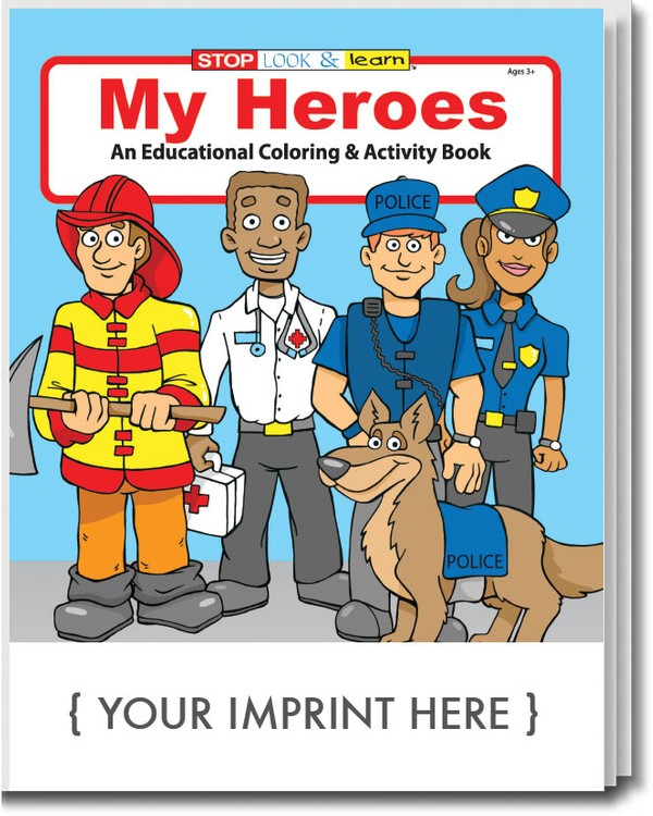 COLORING BOOK - My Heroes Coloring & Activity Book
