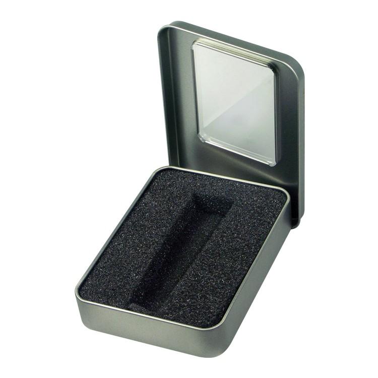 8025PKG - Metal Tin with Window