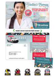 Magna-Peel Postcard (8.5x5.25) - Laminated with Business Card Magnet (25 mil.) - 14 pt.