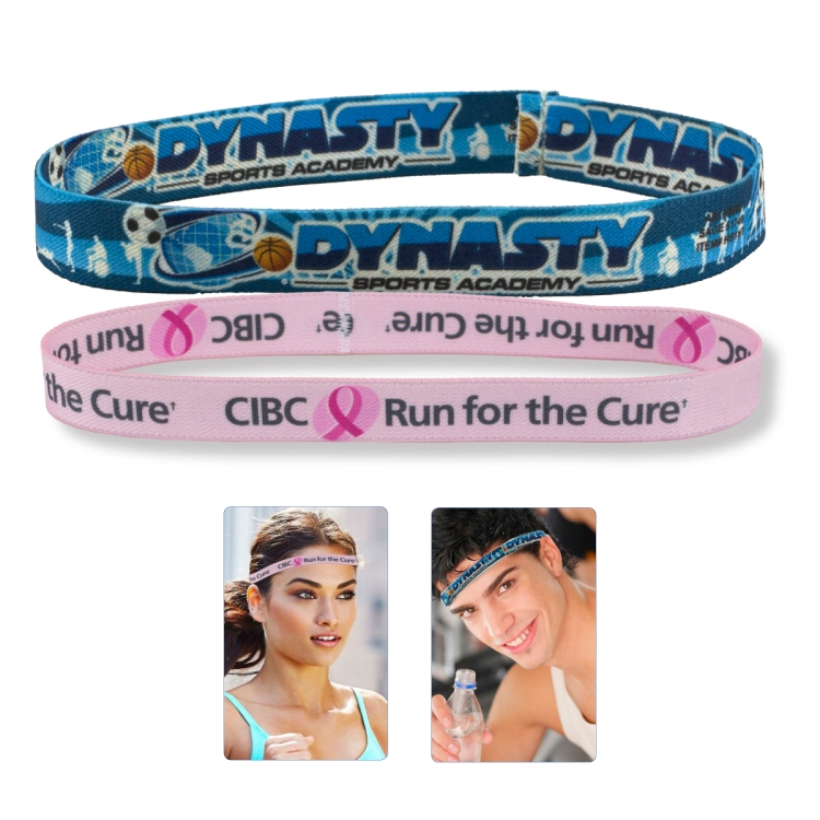 1 Stretchy Elastic Dye Sublimation Headbands - Full Color Process