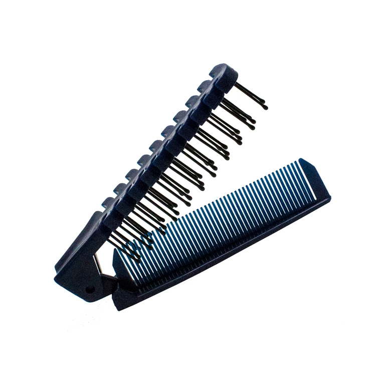Folding Plastic Comb & Brush Combination