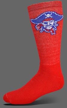Deluxe FULL CUSHION CREW Socks in School Colors w knit-in logo