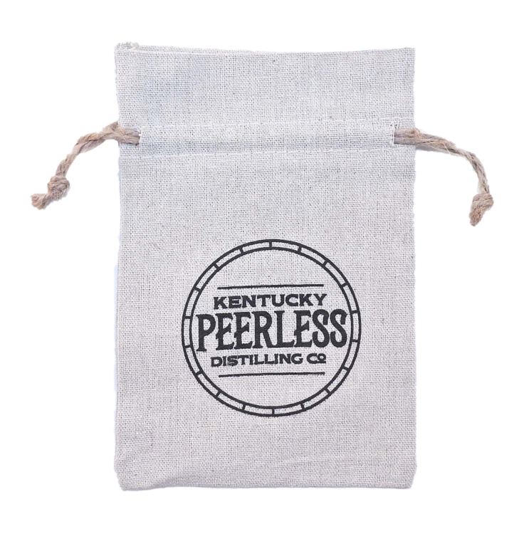REBEL Rough 100% Natural Cotton Drawstring Bag w hemp drawstring 5x7 (LINEN TEXTURE)