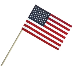 4 x 6 Economy Cotton US Stick Flag on 10 Wooden Dowel