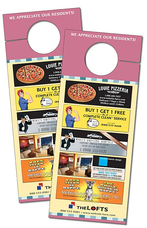 Door Hanger - 3.5x8.5 Extra-Thick Laminated with Slit - 24 pt.
