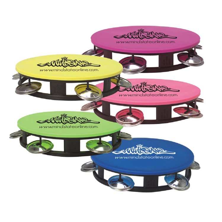 5.5 Tambourine With Neon Top, Fun Noise Maker