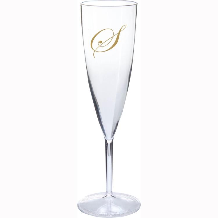 6 oz. 1-Piece Champagne Flute Medium Wt.