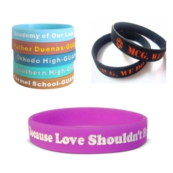 Debossed Silicone Bracelet Color Filling - Debossed Silicone Bracelet Color Filling