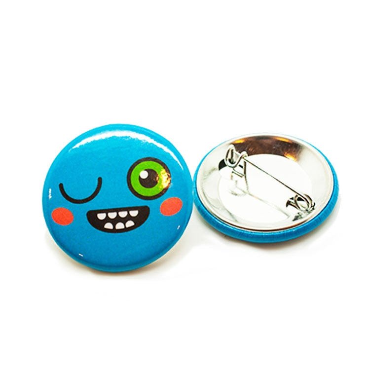 Custom Pin Back Button: 1.25 Round Buttons USA MADE