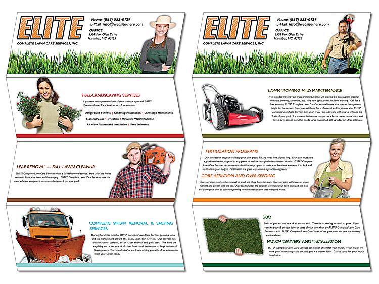 quad fold flyer brochure 11x17 80 lb gloss text