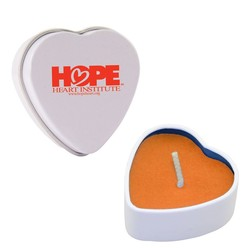 Heart Tin Soy Candle (Mango and Papaya)