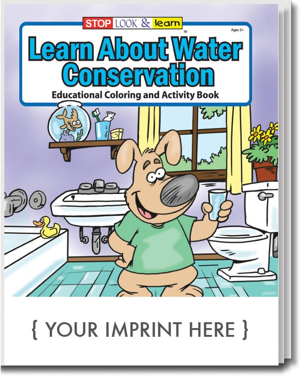 COLORING BOOK - Learn About Water Conservation Coloring & Activity Book