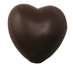 CHOCOLATE HEART ON A STICK SMALL