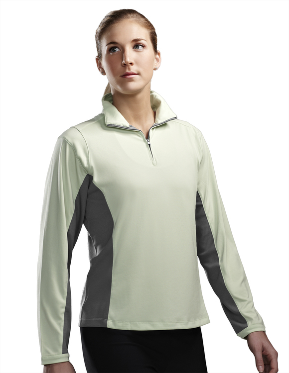 Women's Poly UltraCool™ 1/4 zip pullover shirt - DASH