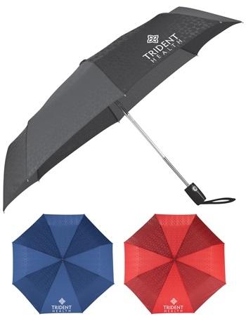 42 Inch Slazenger™ Spectator Compact Auto Open/Close Folding Umbrella CLEARANCE Red