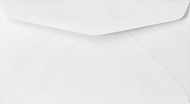 Envelope - 7 Printed White (6.75x3.75)