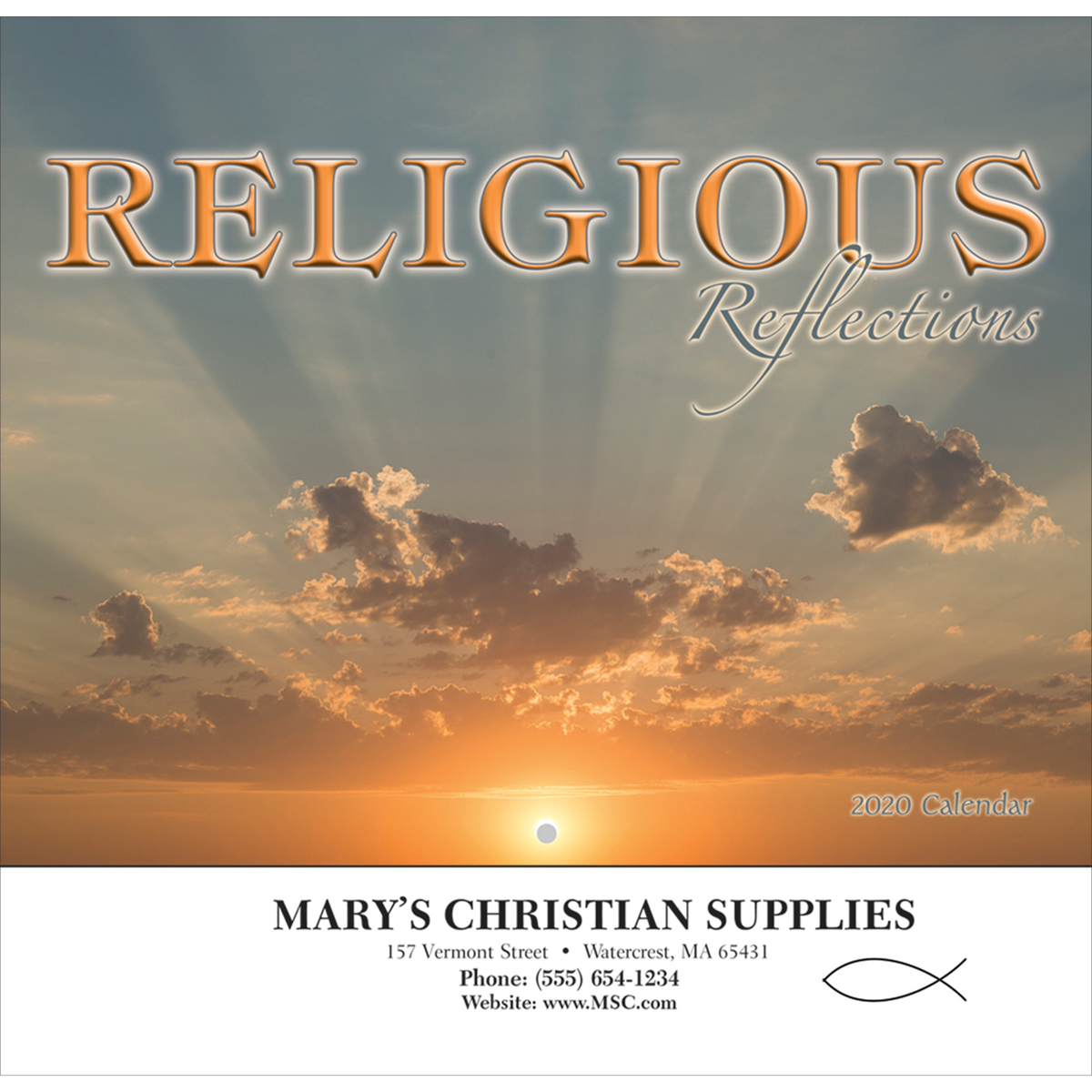 Religious Reflections Wall Calendar
